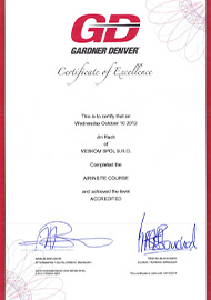 Gardner Denver - Certificate of Excellence