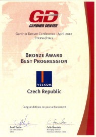 Gardner Denver - Bronze Award Best Progression