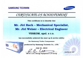 Samsung Techwin - Certificate of Achievement