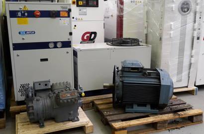 kompresory připravené na servis