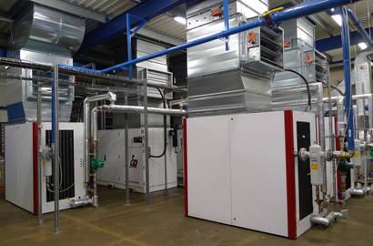 kompresorová stanice s kompresory Gardner Denver s využitím odpadního tepla