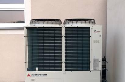 tepelné čerpadlo vysokoteplotní vzduch-voda Q Ton -realizace