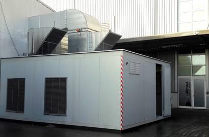 Hotový technologický kontejner