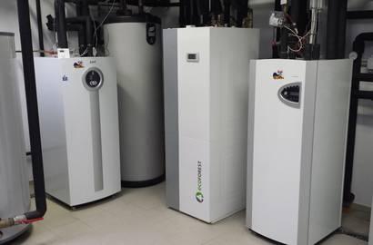 Strojovna s tepelnými čerpadly ecoFOREST a IVT