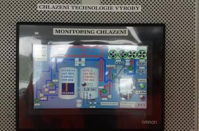 Vizualizační obrazovka OMRON