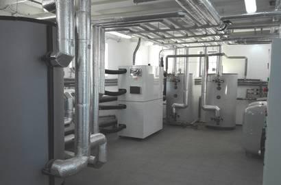 strojovna s tepelnými čerpadly - celkový pohled