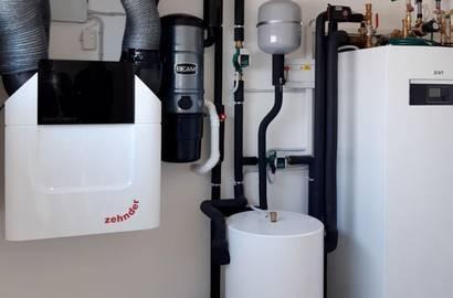 Strojovna s tepelným čerpadlem IVT a rekuperací ZEHNDER