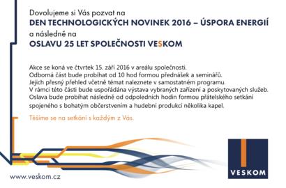 Pozvánka na Den technologických novinek